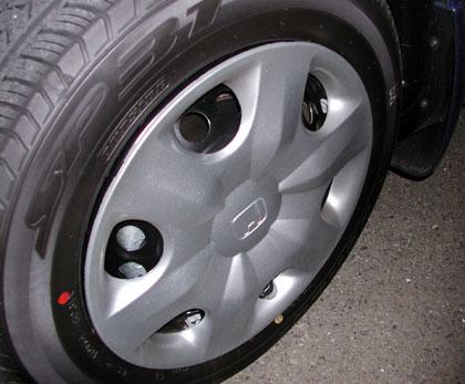 フィットのタイヤ